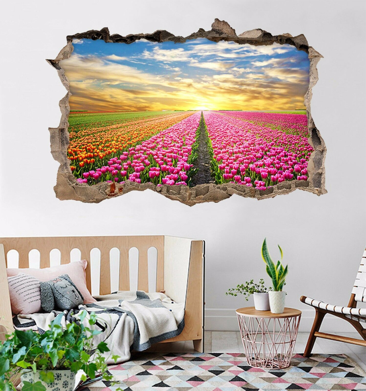 3D Campo Di Fiori 274 Parete Murales Adesivi Decal Sfondamento AJ WALLPAPER IT