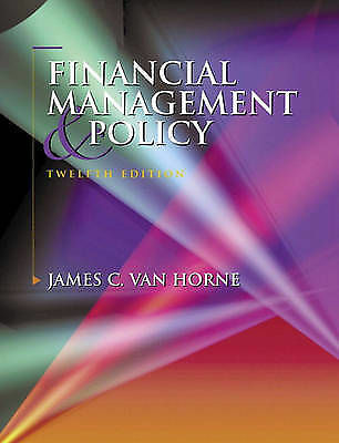 Financial Management and Policy: International Edition, Van Horne, James C., Use