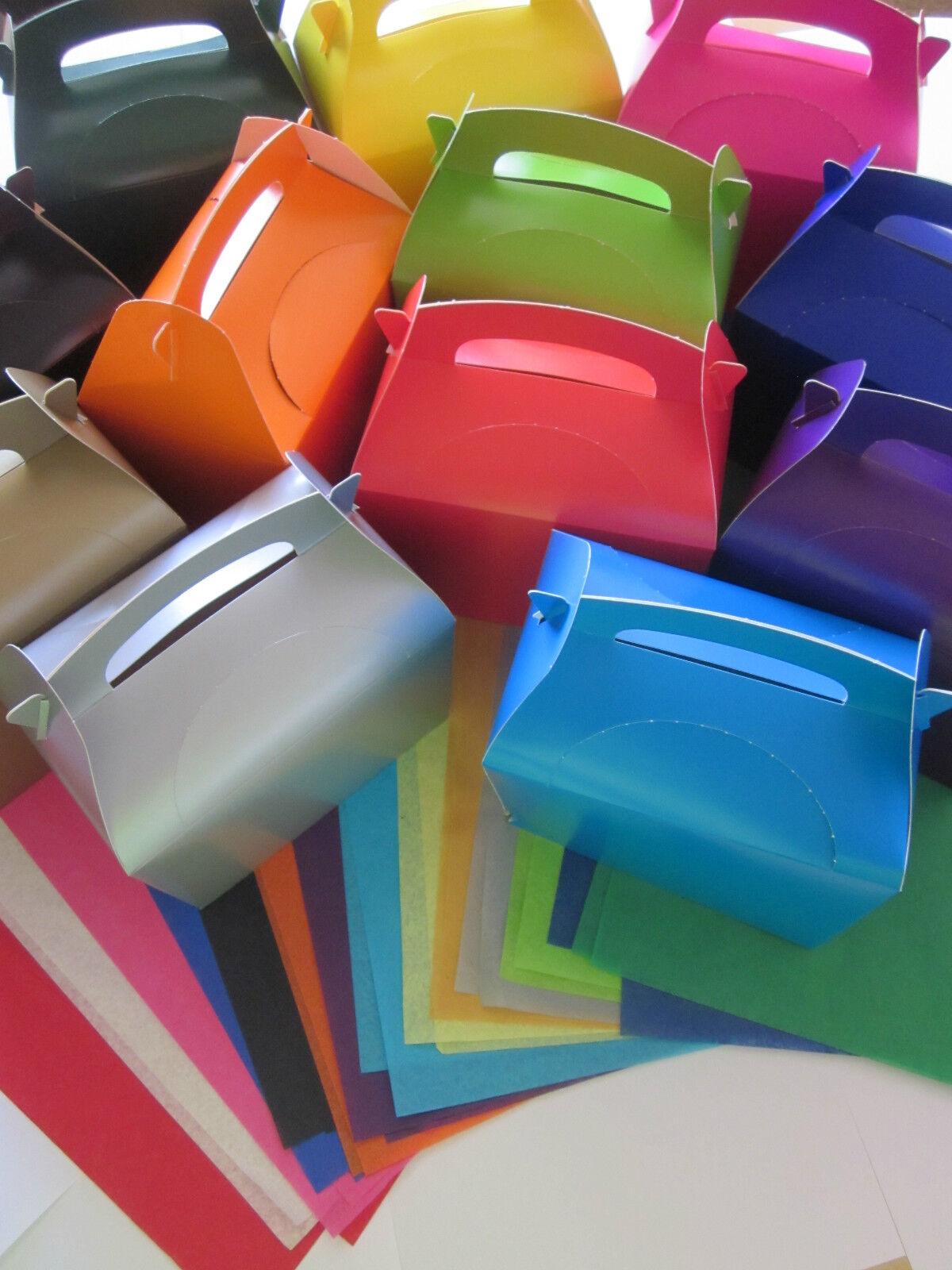 X 100 DETALLE REGALO CAJAS Y x2 PAPEL DE SEDA - Fiesta Boda Mesa caja