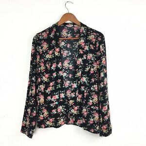 Cath-Kidston-Black-Floral-Ditzy-Liteweight-Relaxed-Unstructured-Blazer-Jacket-10