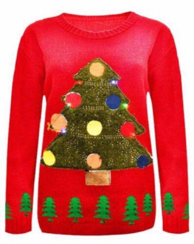 Le Ragazze Donne Natale Designs Rudolph Renna Pinguino Ho Ho Natale 3D Maglione LOTTO