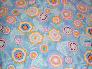 Butterflies-and-Flowers-on-Blue-Cotton-Quilting-Fabric-1m