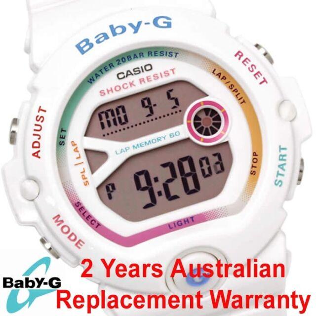 CASIO BABY-G RUNNER DIGITAL WATCH BG6903-7C WHITE BG-6903-7CDR 2-YEARS WARRANTY