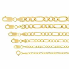 """Real 14k Yellow Gold 1.8mm-6.5mm Figaro Link Chain Pendant Necklace 16""""-30"""""""