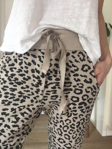 Hose Jogger Jog Pants XL 42 44 Neu Beige Schwarz Leo Chino  Animal Print Joggers