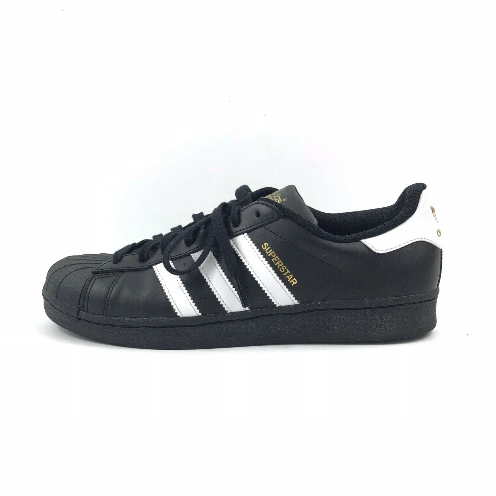 Adidas Originals Mens Superstar Casual Sneaker Shoes BLK/White/Gold Sz 10 B27140