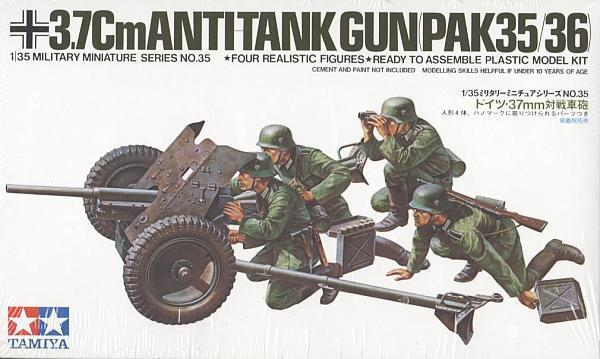 Tamiya 35035 1/35 Scale Military Model Kit German 37mm Anti-Tank Gun PAK35/36