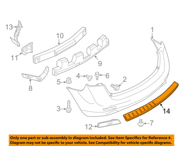 Genuine Nissan Accessories 999T6-CV000 Rear Stainless Steel Bumper Protector