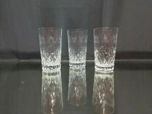 SET-OF-THREE-Rogaska-Gallia-Highball-Crystal-Glasses-SIGNED-Tumbler-IMPERFECT
