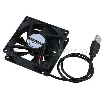 8025 80x80mm 5V USB PC Cooling Fan 1300RPM Plug /& Play Computer Heatsink Case