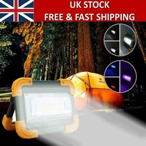 Camping Emergency Flood Lamp LED COB Work Light USB Rechargeable Floodlight