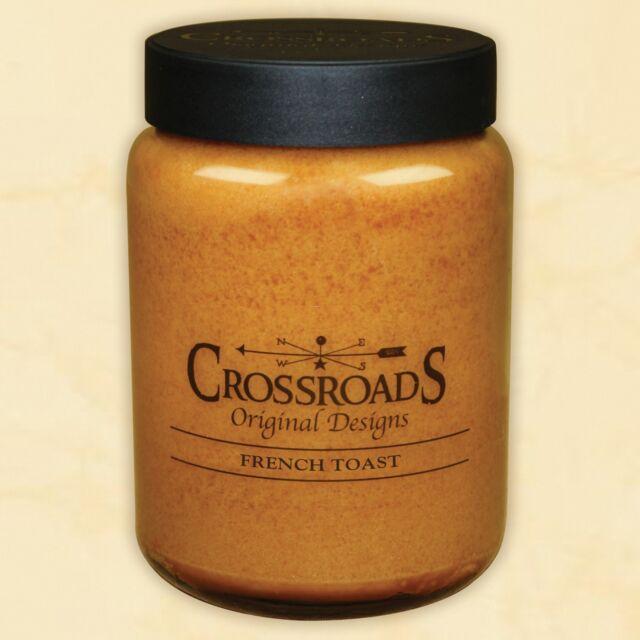French Toast 26 oz. Crossroads Original Designs Jar Candle w/ Lid  New