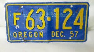 1957-Oregon-License-Plate-Vintage