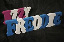 Personalised freestanding jigsaw Name Plaque Solid Wood jigsaw Letters Handmade