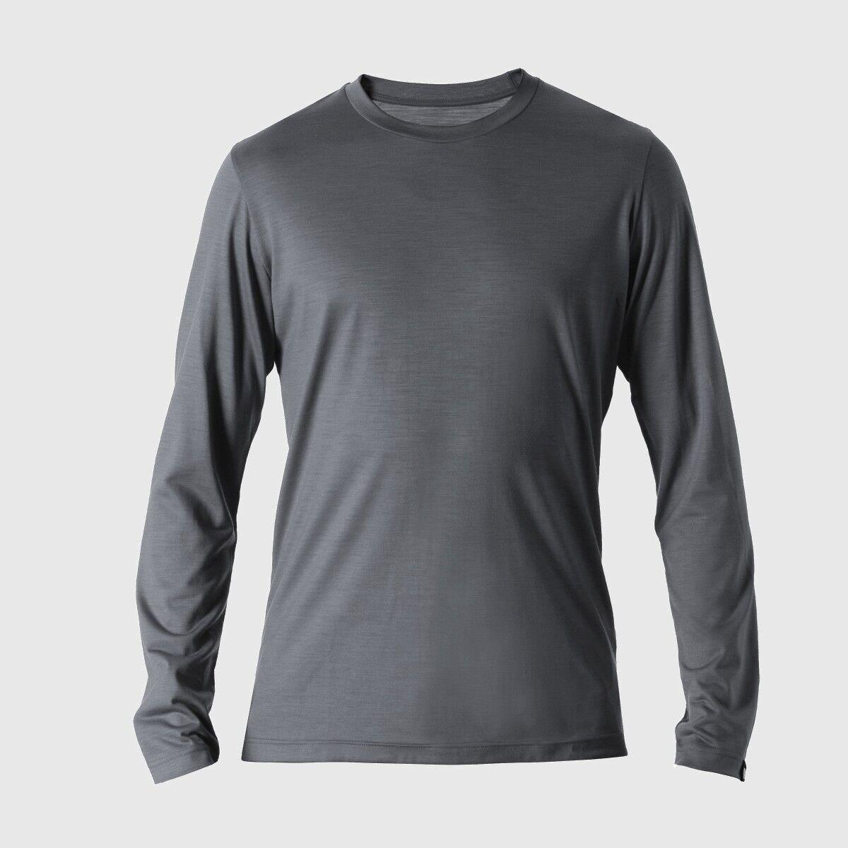 rotA Rewoolution Grab - Mens T-Shirt Long Sleeve 140, eucalyptus, Merinowolle  | Spielzeugwelt, glücklich und grenzenlos