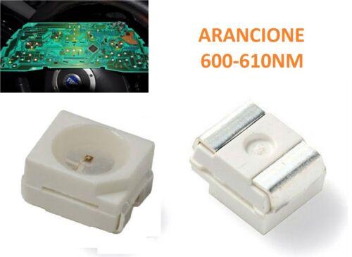 100 LED SMD PLCC2 3528 QUADRO STRUMENTI AUTO ARANCIONE 350MCD DC2V