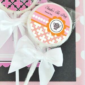 image is loading 24 tea party lollipops personalized lollipop bridal shower