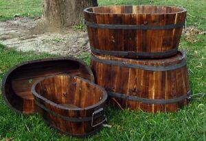 Image Is Loading Wine Barrel Planter Whiskey Oval Garden Pots Cedar