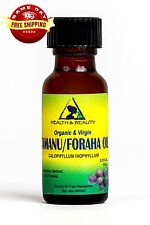 TAMANU / FORAHA OIL ORGANIC by H&B Oils Center COLD PRESSED GLASS BOTTLE 0.5 OZ