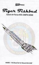 jbr44005/ JBr Decals - Tiger Fishbed - Czech Air Force MiG-21MFN - 1/144