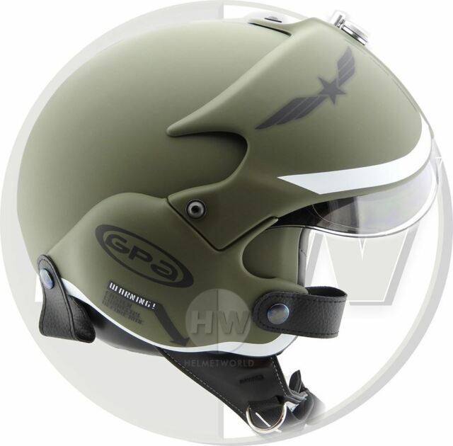 Casco Aperto da Moto Osbe Gpa Aereo Tornado Verde XL 61-62 Cm