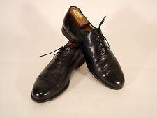 French Shriner Black Leather Oxfords Solids Men's Shoes Size 11 M EUC!