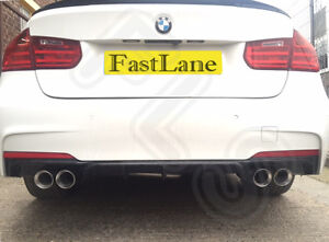 Bmw 3 M Sport F30 Custom Stainless Steel Exhaust Rear Dual