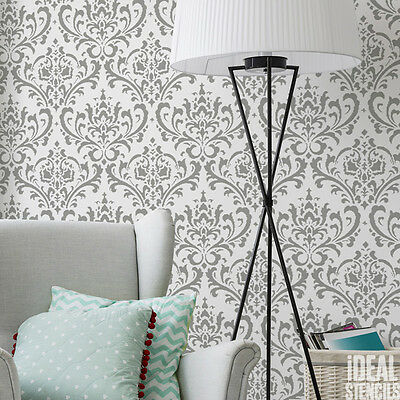 Damask Damascus stencil wall pattern stencil decorating  painting tool reusable