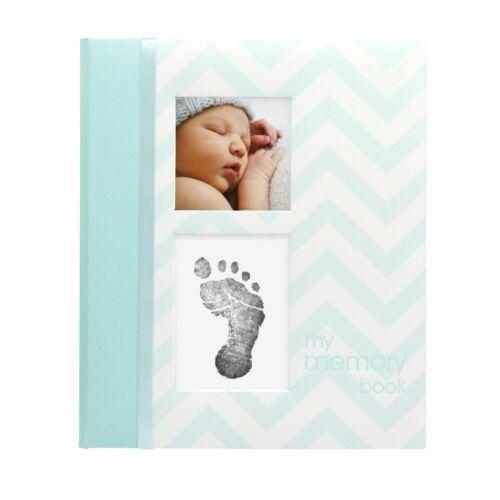 Libro de Recuerdos del Bebe Libro de Memoria Diario Album de Fotos y Huellas