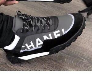 Chanel Nylon \u0026 Calfskin logo Sneakers