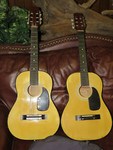 Image Is Loading Lot Of 2 Vintage Harmony Acoustic Guitar H5422