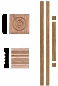 Image Is Loading Unfinished Solid Red Oak Wood Rosette Fluted Door