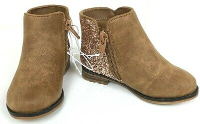 NEW Cat /& Jack Toddler Girls Rona Glitter Ankle Boots Cognac Brown 5,6,8,9,12
