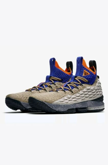 best service db958 e7441 Nike LeBron XV 15 KSA Mowabb ACG Racer Blue Orange Size 9.5 (AR4831-900