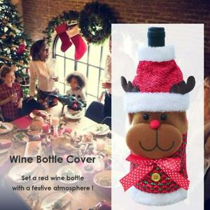 Christmas-Non-Woven-Wine-Bottle-Cover-Kitchen-Table-Home-Dinner-Party-Decor-Gift