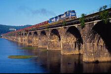 543003 Conrail Empties Crossing Rockville Bridge Harrisburg PA A4 Photo Print