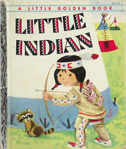Vintage-Little-Golden-Book-LITTLE-INDIAN-Richard-Scarry-1st-Edition