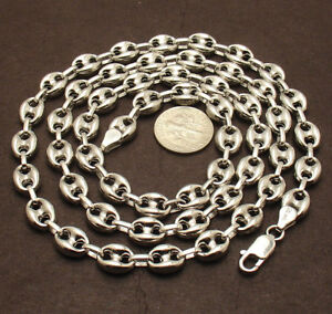 Gucci Link Chain For Sale Ebay >> 8mm Puffed Gucci Mariner Link Chain Necklace Anti Tarnish Real