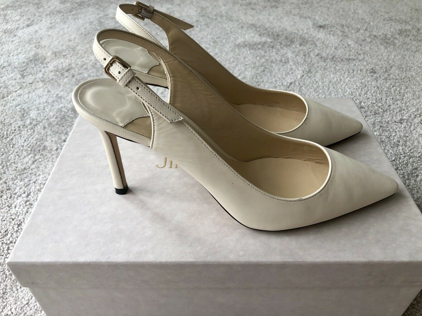 Details zu Zara Leder Wildleder Pumps Gr. 41 Weiß wollweiß Peeptoes Damen Schuhe NEU