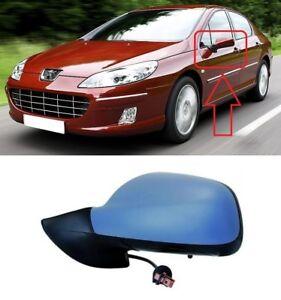 Para-Peugeot-407-2004-2010-nuevo-ALA-ESPEJO-ELECTRICO-IMPRIMADO-5-Pin-Izquierda-N-S-LHD
