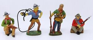 Vintage-Elastolin-Lineol-Tipple-Topple-Composite-Cowboys-70mm-Toy-Soldiers