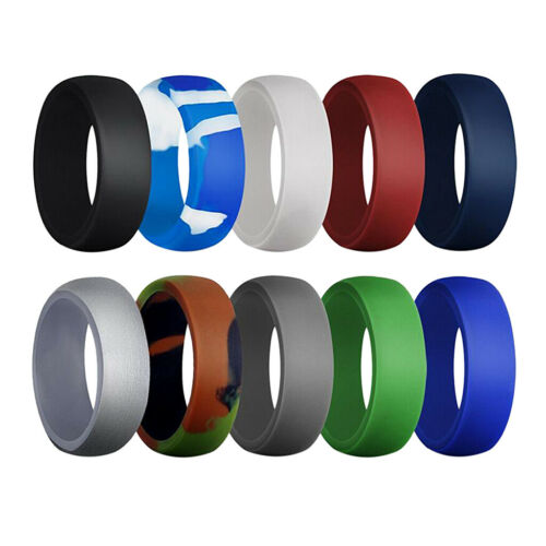 Fasce di gomma di sicurezza dell/'anello largo del silicone di 10 pezzi 8.7mm