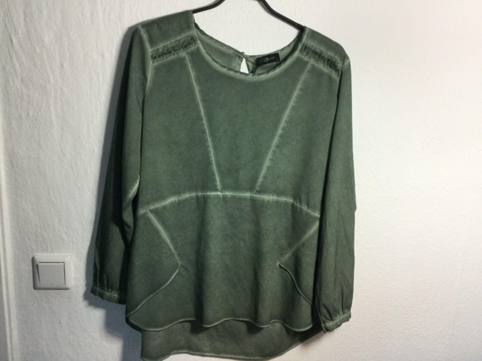 NO SECRET Blause Blausenshirt Tunika in grün Gr. 46 Damen NEU