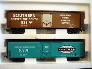 Marklin-H0-47785-Set-2-Tinplate-Freight-Cars-of-NYC-never-used