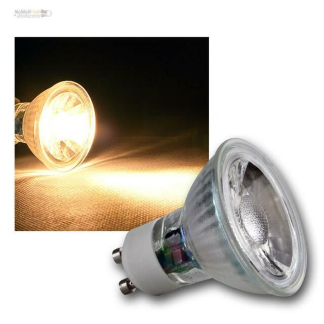 COB GU10 Glas Leuchtmittel warmweiß 230lm, Strahler Birne Spot Lampe 230V 3W
