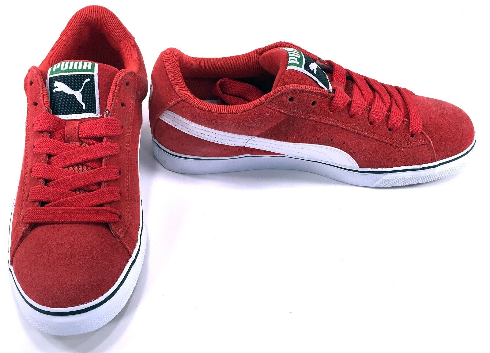 Puma shoes Suede Classic Vulcan Athletic High Risk Red Sneakers Size 8.5