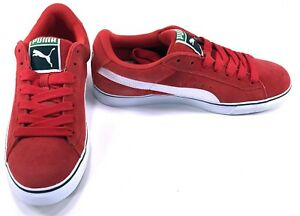 6509a63868f Puma Shoes Suede Classic Vulcan Athletic High Risk Red Sneakers Size ...