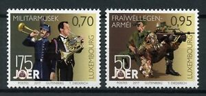 Luxembourg-2017-neuf-sans-charniere-Volutary-Army-Service-amp-MUSIQUE-MILITAIRE-2-V-Set-musique