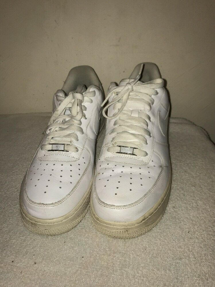 New shoes for men and women, limited time discount Men Air Force Onre White Leather Low Comfortable