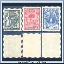 1932 Liechtenstein Opere per l'infanzia n. 108/110 Nuovi Integri **